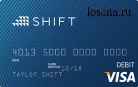 Shift Card за биткоины.